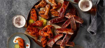 Ribs and Wings at Dickey's Barbecue Pit