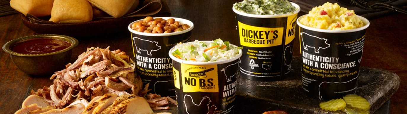 Assorted food at Dickey's Barbecue Pit