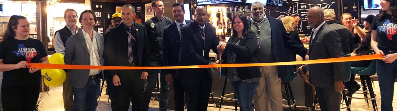 Dickey's BBQ Team at a Ribbon Cutting