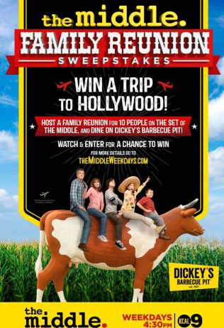 Win a Hollywood Family Reunion for Up to 10 People from Dickey's Barbecue Pit