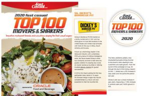 Dickey's Barbecue Pit ranked #56 on Fast Casual Top 100 Movers & Shakers